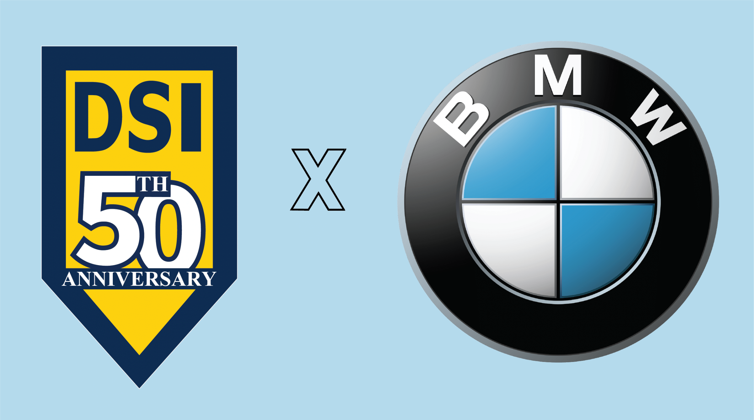 Logos of DSI and BMW together
